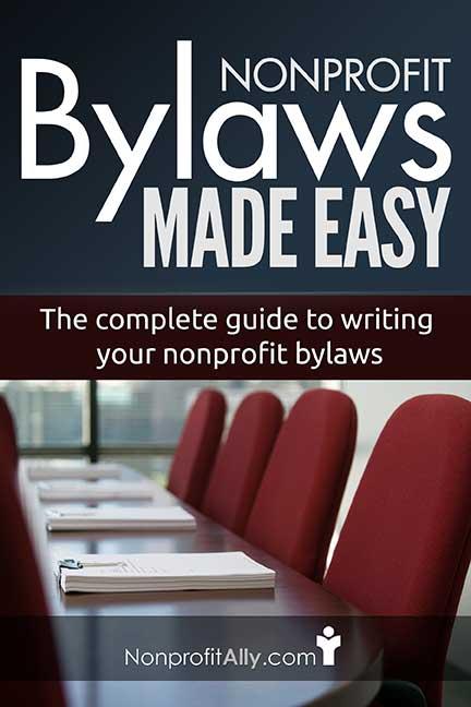 Nonprofit Bylaws Ebook