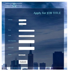 nonprofit job application form