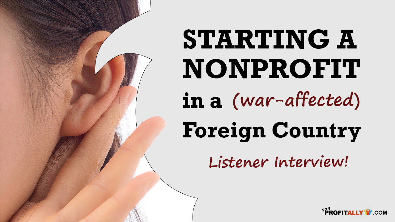 Start a nonprofit in a foreign country
